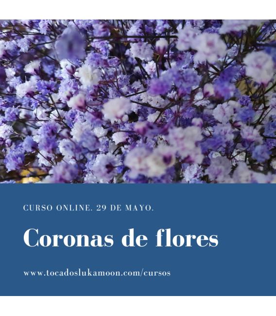 Curso online coronas flores preservadas 29 de mayo 2021