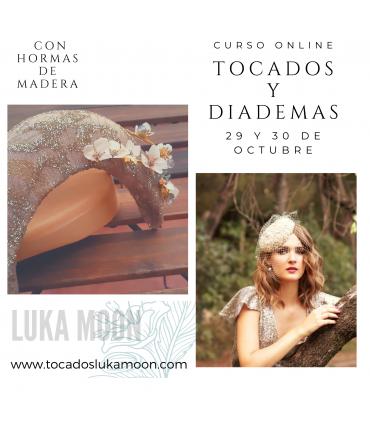 Curso de diademas y tocados con hormas de madera 5 y 6 de noviembre.