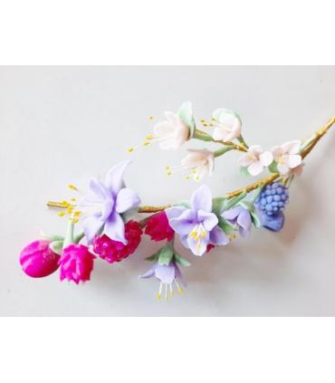 Curso online porcelana de flores silvestres y frutos 3 y 4 de diciembre
